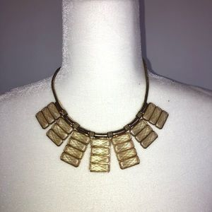 Women's Statement necklace Gold Cream Nude